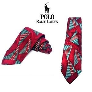 Polo Ralph Lauren Red Mens Silk Tie